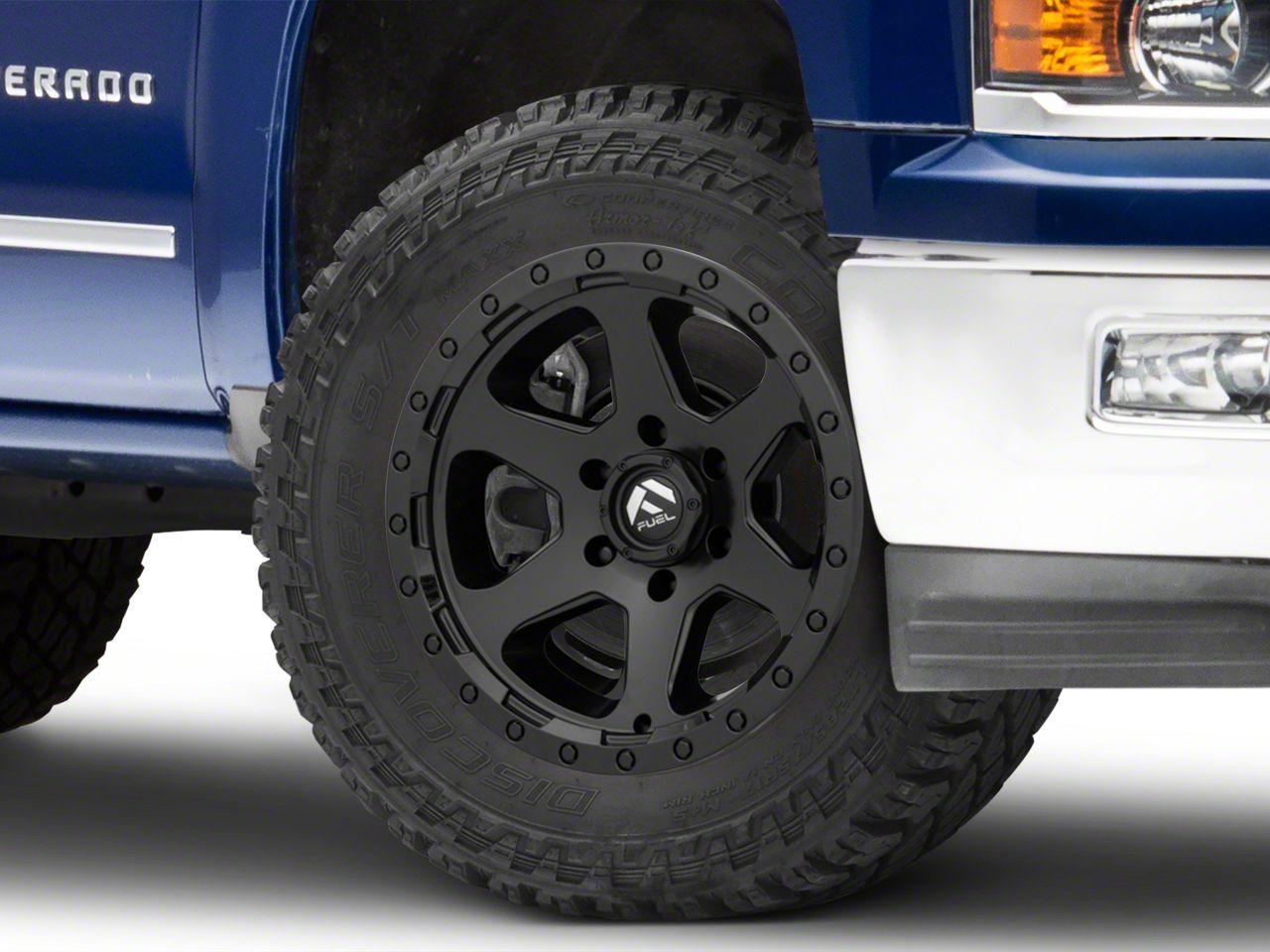 Fuel Wheels Ripper Matte Black 6-Lug Wheel - 20x10 (99-18 Silverado 1500)