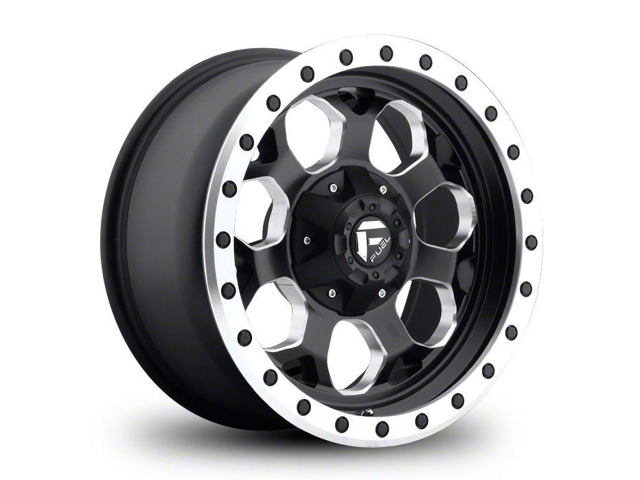 Fuel Wheels Savage Black Milled 6-Lug Wheel - 17x8.5 (99-18 Silverado 1500)