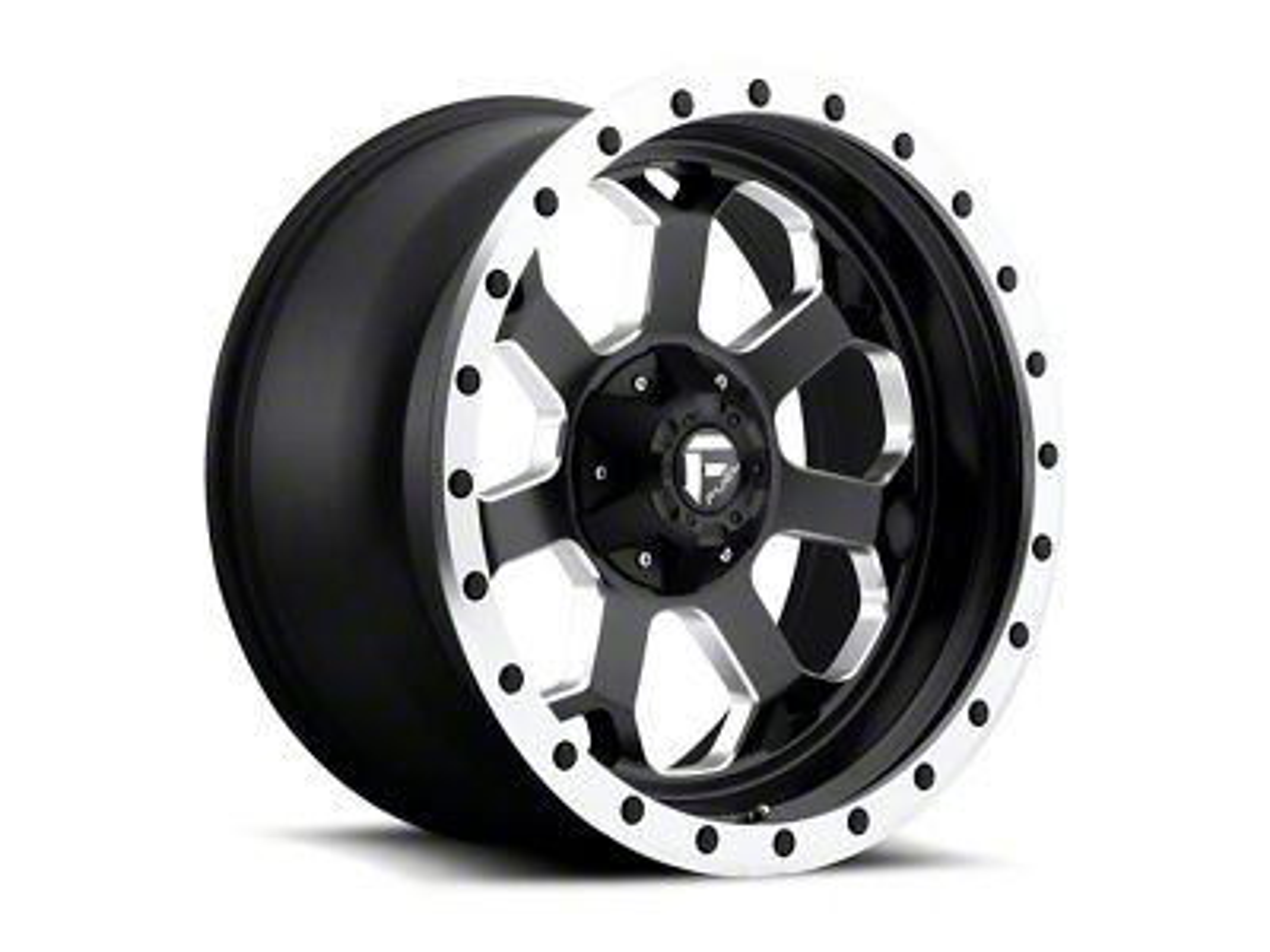 Fuel Wheels Savage Black Milled 6-Lug Wheel - 20x10 (99-18 Silverado 1500)