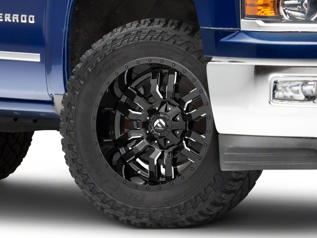 Fuel Wheels Sledge Gloss Black Milled 6-Lug Wheel - 20x10 (99-18 Silverado 1500)