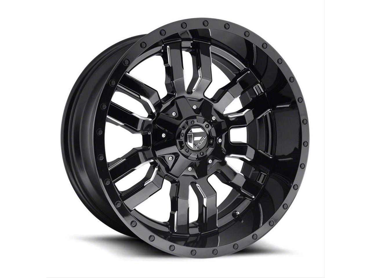 Fuel Wheels Sledge Gloss Black Milled 6-Lug Wheel - 24x14 (99-18 Silverado 1500)
