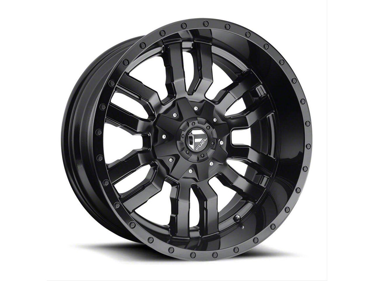 Fuel Wheels Sledge Gloss & Matte Black 6-Lug Wheel - 24x14 (99-18 Silverado 1500)