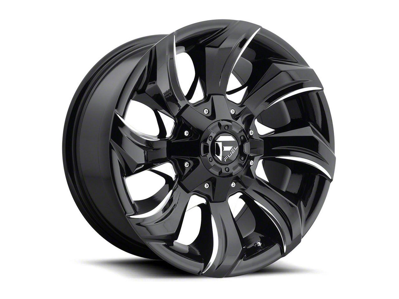 Fuel Wheels STRYKR Gloss Black Milled 6-Lug Wheel - 20x10 (99-18 Silverado 1500)