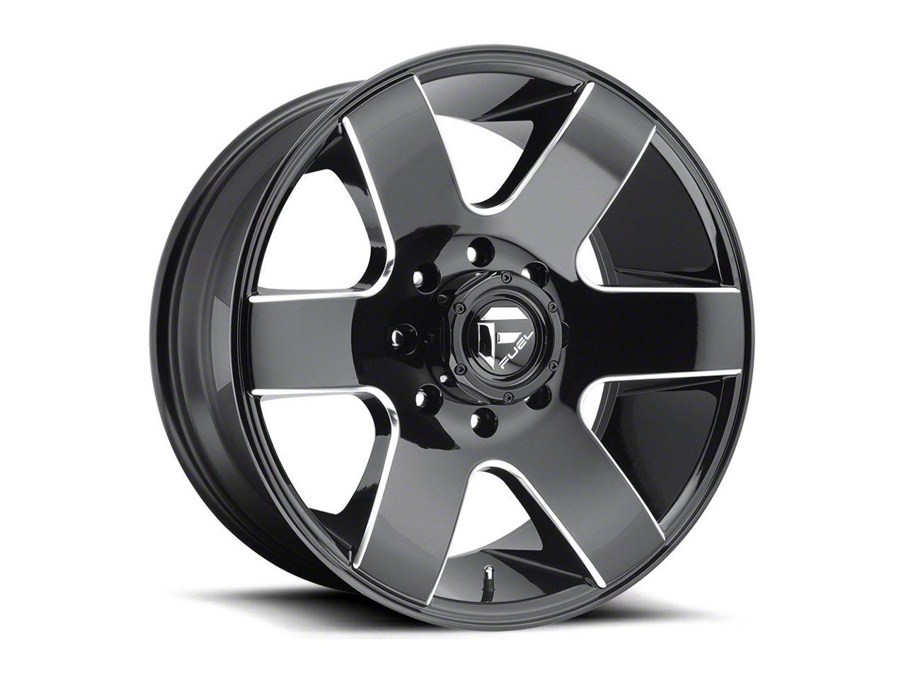 Fuel Wheels Tank Gloss Black Milled 6-Lug Wheel - 20x10 (99-18 Silverado 1500)