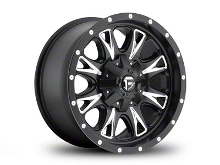 Fuel Wheels Throttle Black Milled 6-Lug Wheel - 18x9 (99-18 Silverado 1500)