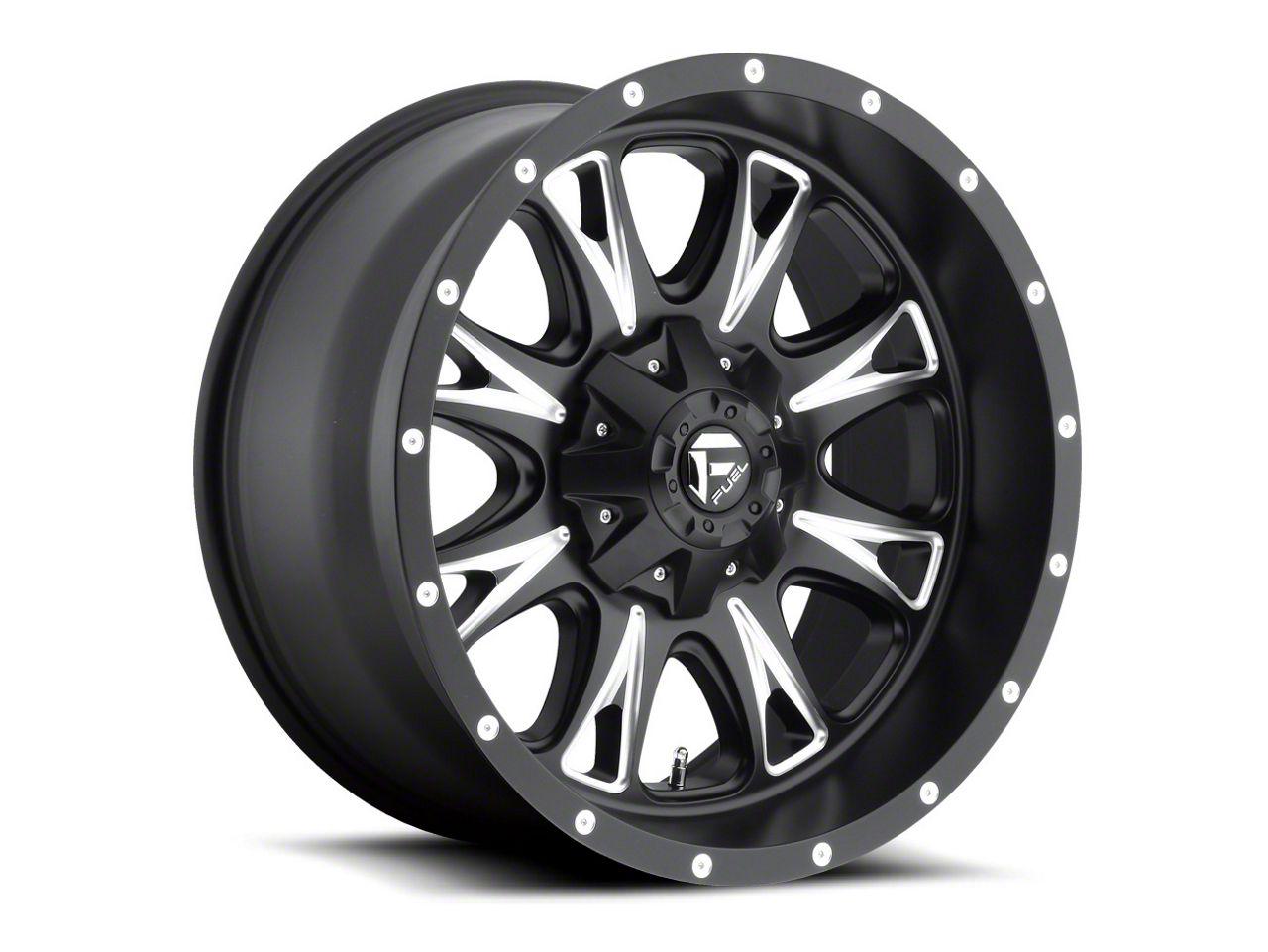 Fuel Wheels Throttle Black Milled 6-Lug Wheel - 20x12 (99-18 Silverado 1500)