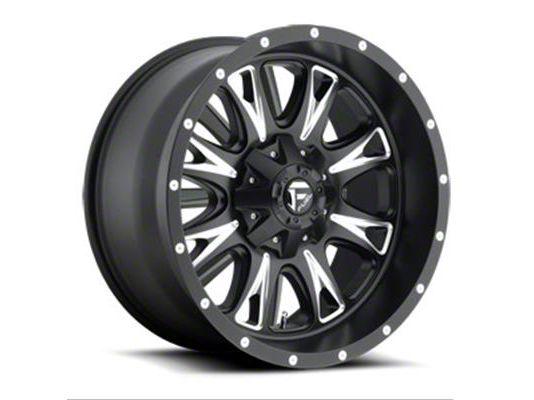 Fuel Wheels Throttle Black Milled 6-Lug Wheel - 22x14 (99-18 Silverado 1500)