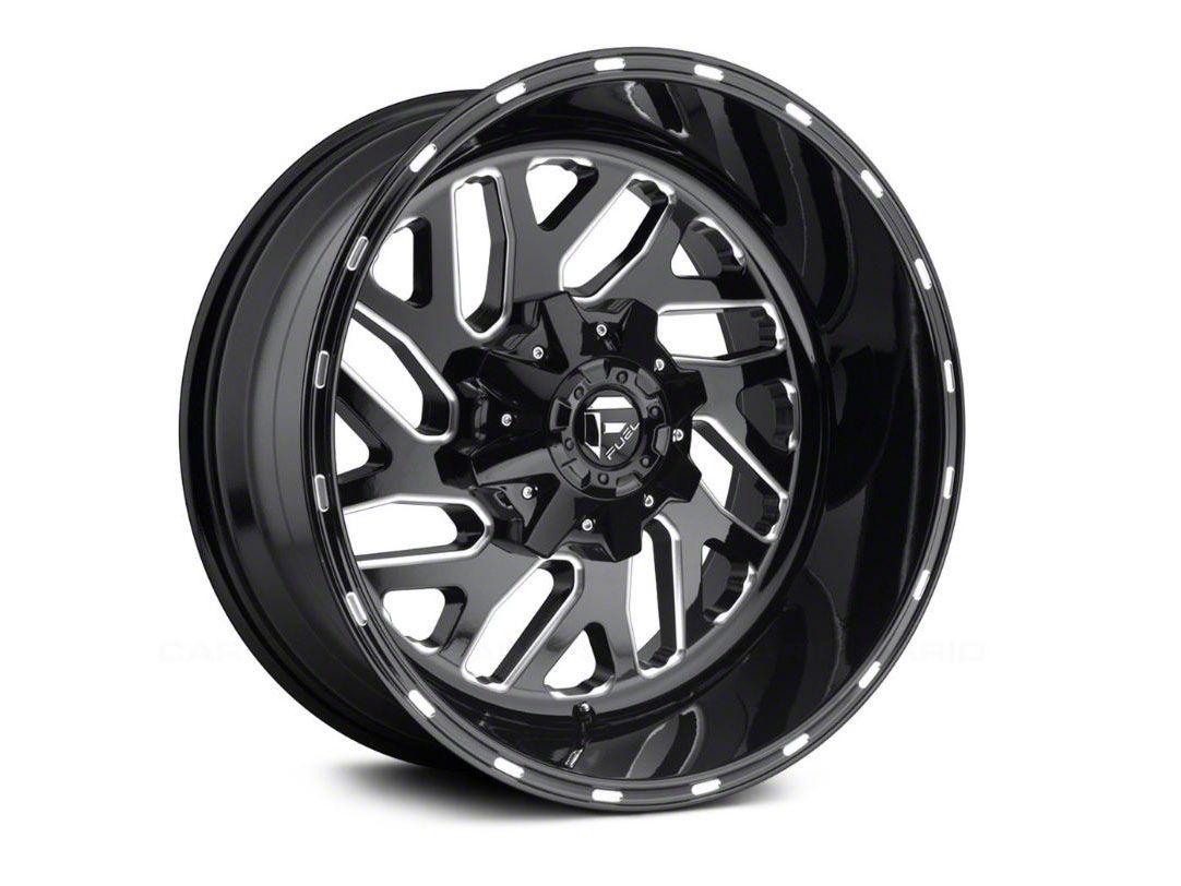 Fuel Wheels Triton Gloss Black Milled 6-Lug Wheel - 22x12 (99-18 Silverado 1500)