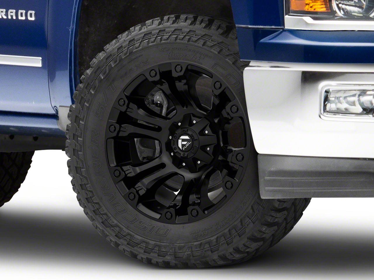 Fuel Wheels Vapor Matte Black 6-Lug Wheel - 20x10 (99-18 Silverado 1500)