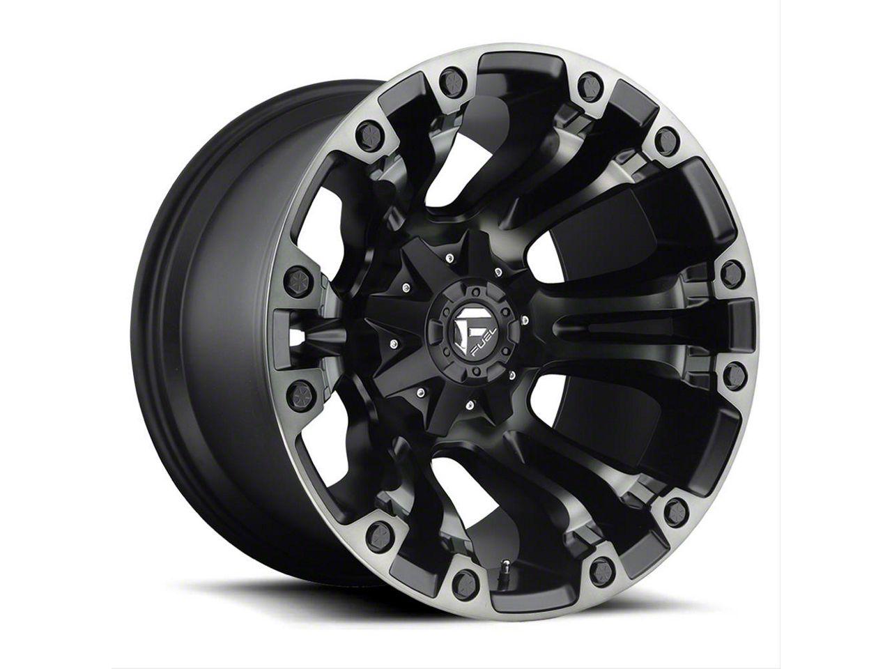 Fuel Wheels Vapor Matte Black Machined 6-Lug Wheel - 20x12 (99-18 Silverado 1500)