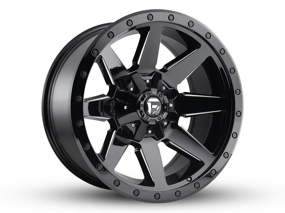 Fuel Wheels Wildcat Gloss Black Milled 6-Lug Wheel - 20x10 (99-18 Silverado 1500)