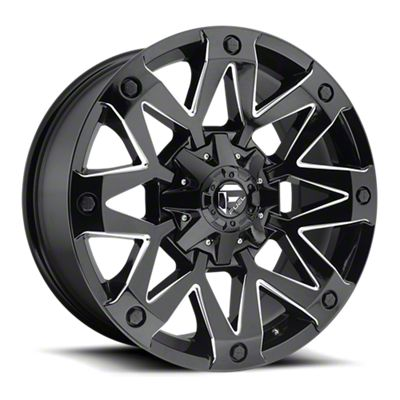 Fuel Wheels Ambush Gloss Black Milled 6-Lug Wheel - 17x9 (99-18 Silverado 1500)