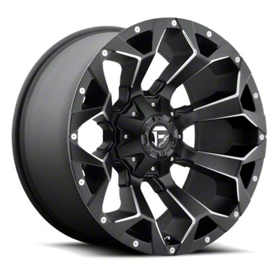 Fuel Wheels Assault Black Milled 6-Lug Wheel - 17x8.5 (99-18 Silverado 1500)