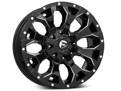 Fuel Wheels Assault Gloss Black Milled 6-Lug Wheel - 18x9 (99-18 Silverado 1500)