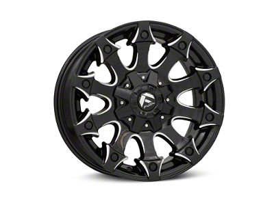 Fuel Wheels Battle Axe Gloss Black Milled 6-Lug Wheel - 18x9 (99-19 Silverado 1500)