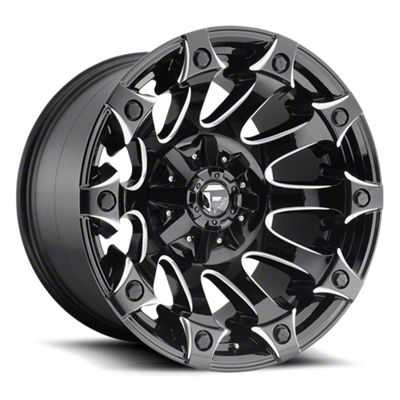 Fuel Wheels Battle Axe Gloss Black Milled 6-Lug Wheel - 20x9 (99-19 Silverado 1500)
