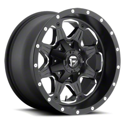 Fuel Wheels Boost Black Milled 6-Lug Wheel - 20x9 (99-18 Silverado 1500)