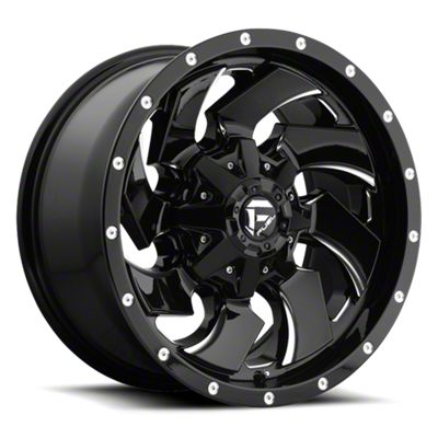 Fuel Wheels Cleaver Black Milled 6-Lug Wheel - 20x9 (99-18 Silverado 1500)