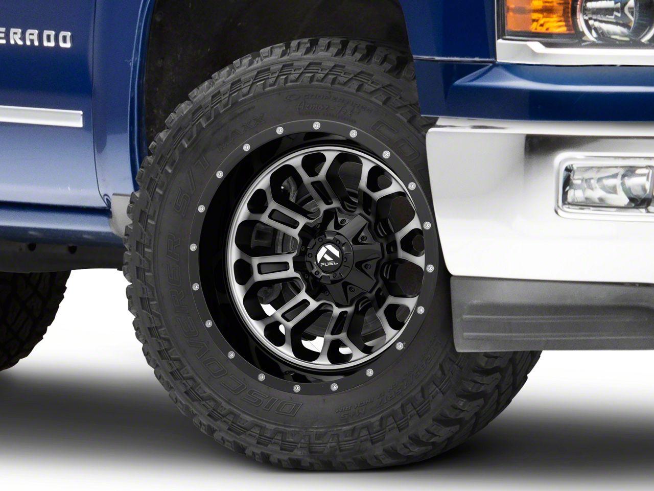Fuel Wheels Crush Matte Black Machined 6-Lug Wheel - 20x10 (99-18 Silverado 1500)
