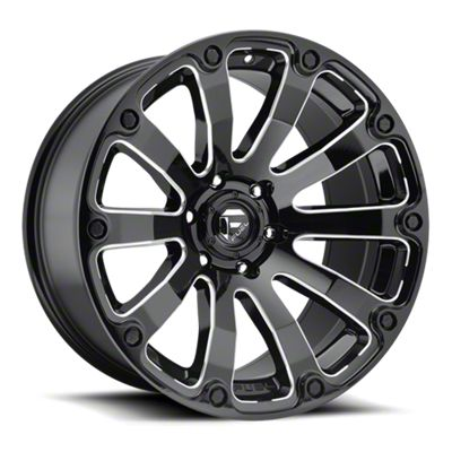 Fuel Wheels Diesel Gloss Black Milled 6-Lug Wheel - 17x9 (99-18 Silverado 1500)