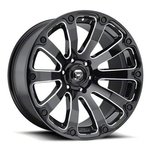 Fuel Wheels Diesel Gloss Black Milled 6-Lug Wheel - 20x9 (99-18 Silverado 1500)