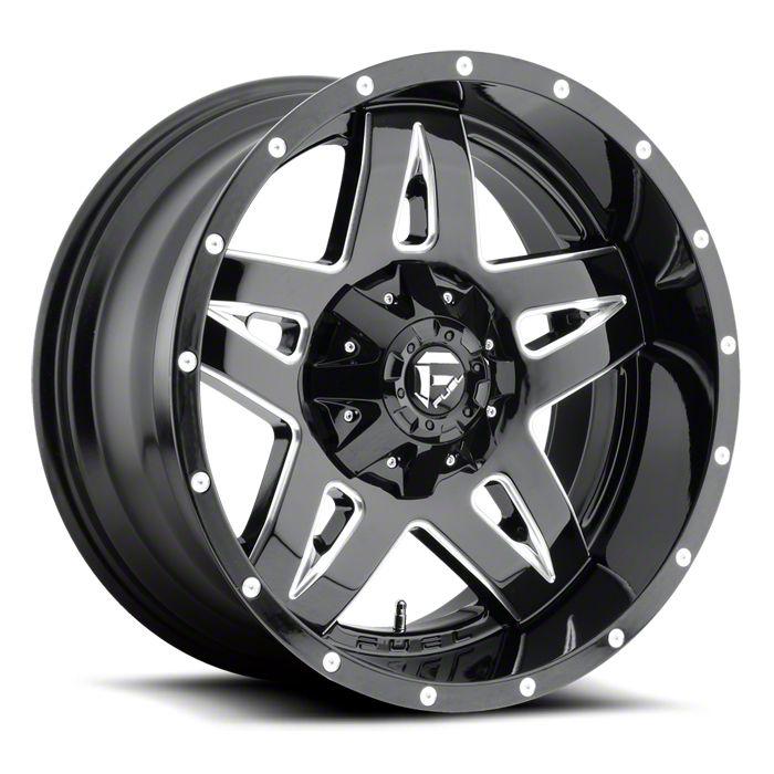 Fuel Wheels Full Blown Black Milled 6-Lug Wheel - 20x10 (99-18 Silverado 1500)