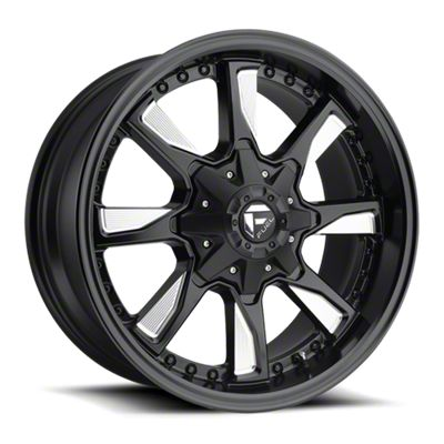 Fuel Wheels Hydro Matte Black Milled 6-Lug Wheel - 20x9 (99-18 Silverado 1500)