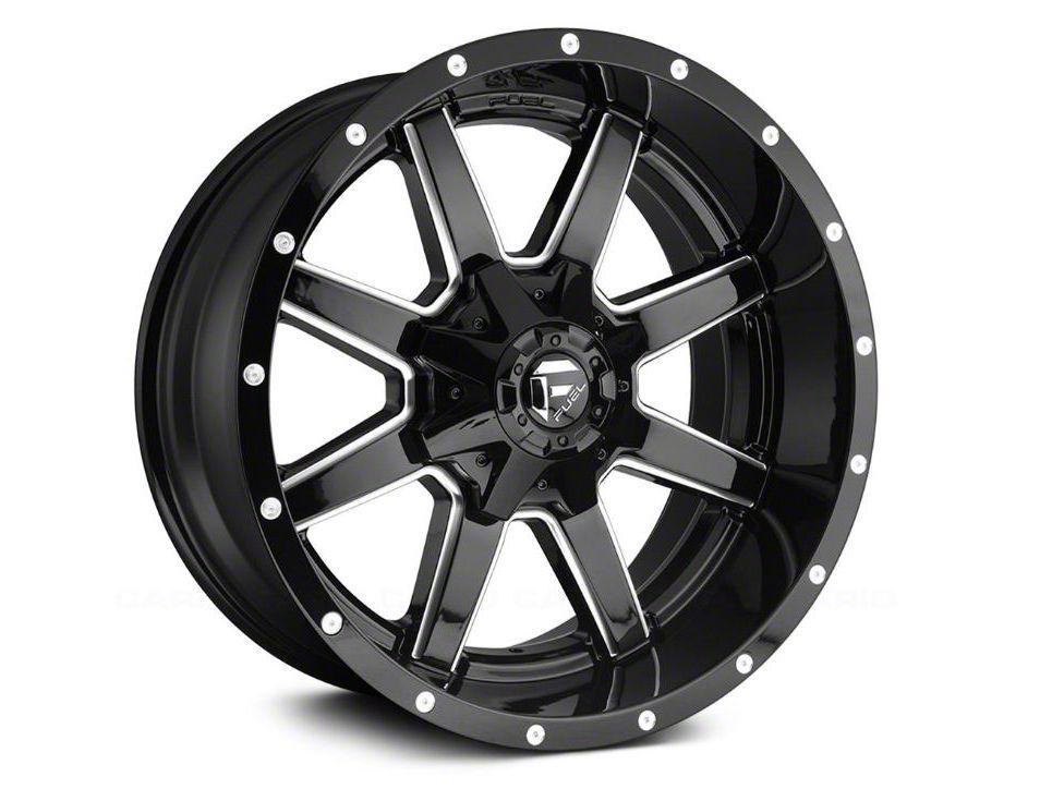 Fuel Wheels Maverick Gloss Black Milled 6-Lug Wheel - 18x9 (99-18 Silverado 1500)