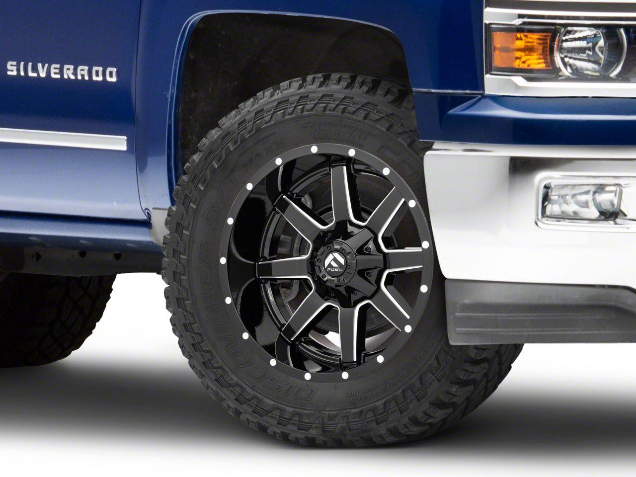 Fuel Wheels Maverick Gloss Black Milled 6-Lug Wheel - 20x10 (99-18 Silverado 1500)