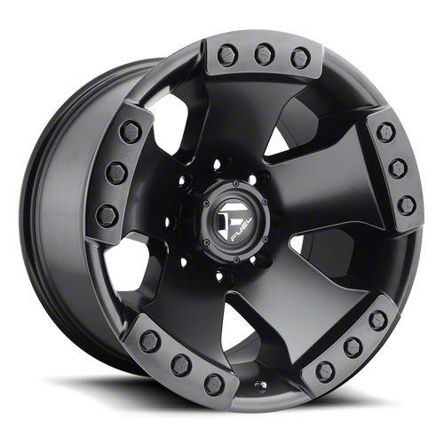 Fuel Wheels Monsta Matte Black 6-Lug Wheel - 17x9 (99-18 Silverado 1500)