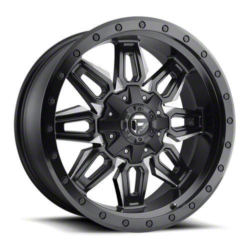 Fuel Wheels Neutron Matte Black Milled 6-Lug Wheel - 18x9 (99-18 Silverado 1500)