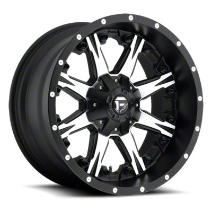 Fuel Wheels NUTZ Black Machined 6-Lug Wheel - 18x9 (99-18 Silverado 1500)