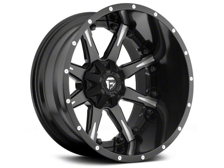 Fuel Wheels NUTZ Black Milled 6-Lug Wheel - 20x9 (99-18 Silverado 1500)
