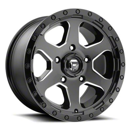 Fuel Wheels Ripper Gloss Black Milled 6-Lug Wheel - 18x9 (99-18 Silverado 1500)