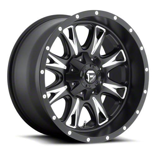 Fuel Wheels Throttle Black Milled 6-Lug Wheel - 22x9.5 (99-18 Silverado 1500)