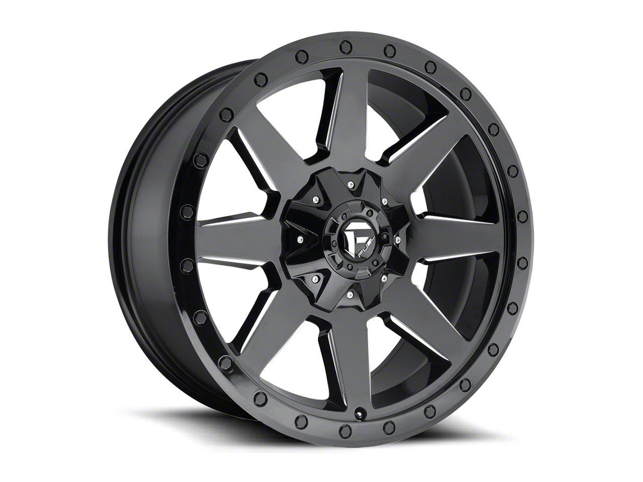 Fuel Wheels Wildcat Gloss Black Milled 6-Lug Wheel - 20x9 (99-18 Silverado 1500)