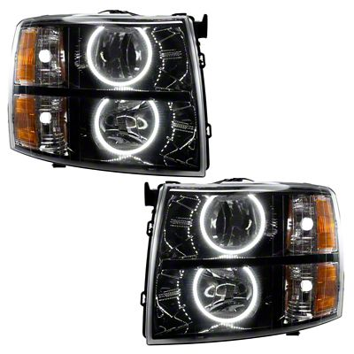 Oracle Black OE Style Headlights w/ Round Ring Plasma Halos (07-13 Silverado 1500)