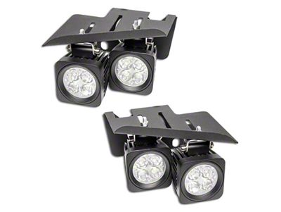 Oracle Square LED Lights w/ Fog Light Mounting Brackets (07-13 Silverado 1500)