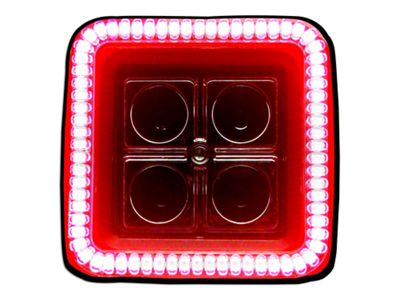 Oracle 3 in. Square Halo for Cube/Square Lights - Red