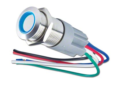 Oracle Pre-Wired Momentary Style Flush Mount LED Switch - Blue (99-18 Silverado 1500)