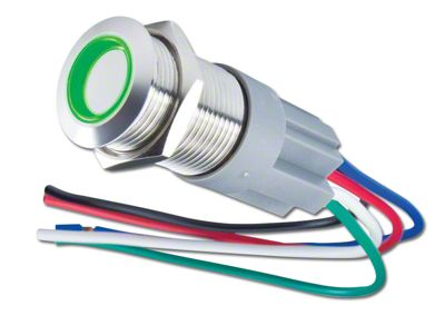 Oracle Pre-Wired Momentary Style Flush Mount LED Switch - Green (99-18 Silverado 1500)