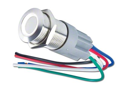 Oracle Pre-Wired Momentary Style Flush Mount LED Switch - White (99-18 Silverado 1500)