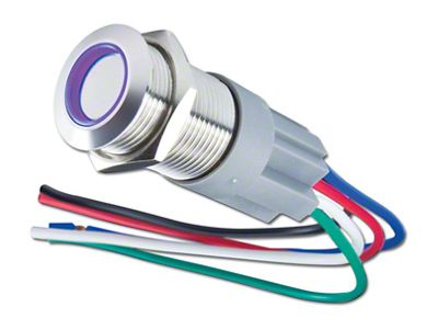 Oracle Pre-Wired Momentary Style Flush Mount LED Switch - UV/Purple (99-18 Silverado 1500)