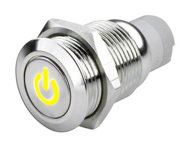 Oracle Pre-Wired Power Symbol On/Off Flush Mount LED Switch - Yellow (99-18 Silverado 1500)