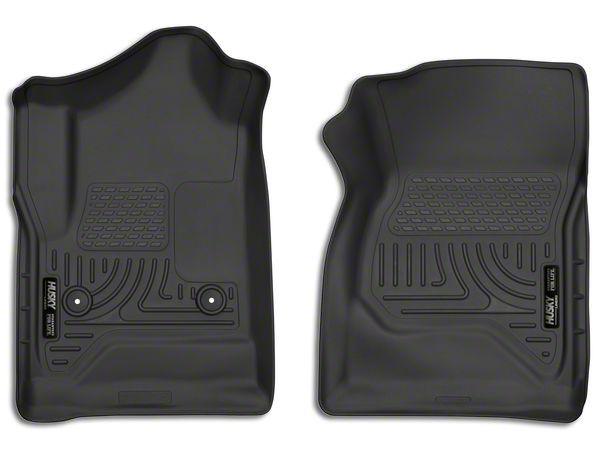 Husky X-Act Contour Front Floor Liners - Black (14-18 Silverado 1500 Regular Cab)