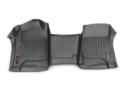 Rough Country Heavy Duty Front Floor Mats - Black (14-18 Silverado 1500)