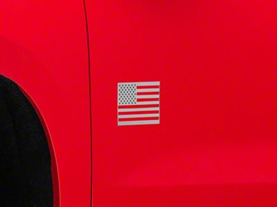 Stainless Steel American Flag Emblem - Brushed (99-19 Silverado 1500)