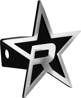RBP Black/Brushed Star Hitch Cover (99-18 Silverado 1500)