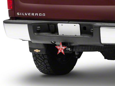 RBP Chrome/Red Star Hitch Cover (99-19 Silverado 1500)