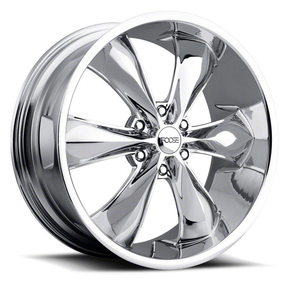 Foose Legend Six Chrome 6-Lug Wheel - 22x9.5 (99-18 Silverado 1500)